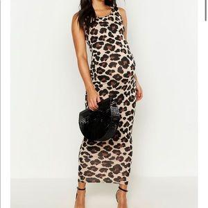 Maternity Cheetah Print Dress